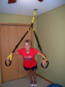 TRX in home exercise room
